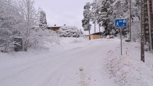 Krapulbacksvägen i Liljendal.