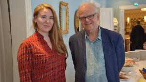Susanna Airaksinen och Ulf Långbacka ser fram emot att komma igång med musikteaterprojektet.
