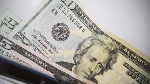 Andrew Jackson på 20-dollarssedeln.