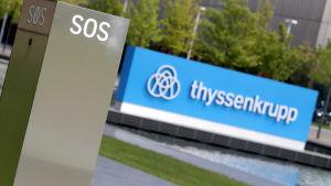 Stålkoncernen Thyssenkrupp i Essen, Tyskland