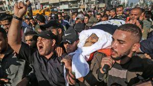 Befälhavaren för Islamiska Jihad, Baha Abu al-Ala, begravdes i Gaza City redan samma dag som han dödats, det vill säga på tisdagen.