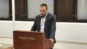 Martin Norrgård, SFP:s gruppordförande i Vasa.