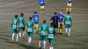 Fotbollsmatch i Managua, Nicaragua 15.4.2020
