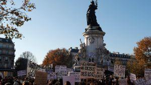Demonstration i Paris mot polsibrutalitet.28.11.2020