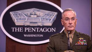 Den fyrstjärniga  pensionerade generalen Joseph Dunford, vill att reträtten från Afghanistan fördröjs tills talibanerna håller vad de har lovat.