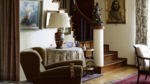 Vardagsrum i Lönnströms hemmuseum