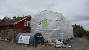 Här byggs Mikaelskolans nya kök.