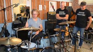 musiker i studio