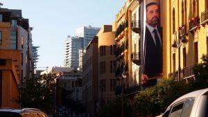 Katunäkymä Beirutissa, senäjuliste essa pääministeri Hairi