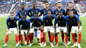 Frankrikes startelva i VM-genrepet mot USA.