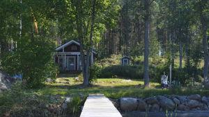 Christer Tonbergs nya stuga på Långön i Nykarleby skärgård