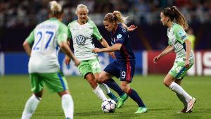 Wolfsburg och Lyon möttes i Champions League-finalen 2018.