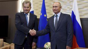Sauli Niinistö och Vladimir Putin