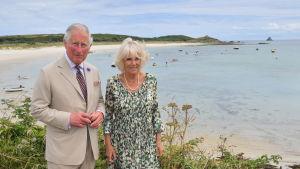 Prins Charles och Camilla, hertiginna av Cornwall. Juli 2018