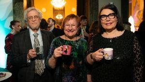 President Tarja Halonen på Muminpremiär.