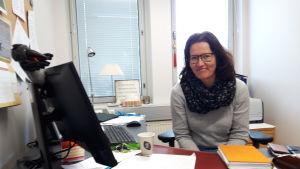 Rektor Cecilia Hägglund Nygård på Karleby svenska gymnasium.