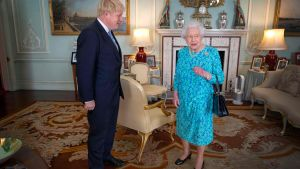 Boris Johnson och drottning Elisabeth träffades i Buckingham Palace, London 24.7.2019