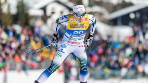Hanna Falk sprintkvalar i VM i Seefeld 2019.