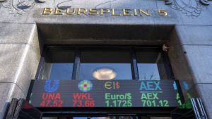 Exteriör av Amsterdambörsen.