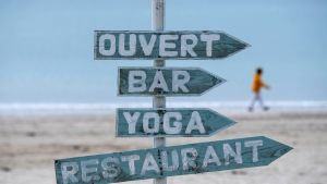 Stranden La Baule i frankrike