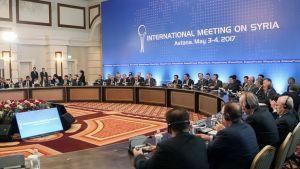 Förhandlingarna om Syrien i Astana 4.5.2017.