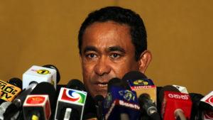 Maldivernas president Abdulla Yameen anklagar Högsta domstolen för att äventyra landets säskerhet