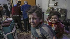 Minst 20 av de 94 dödsoffren i Ghouta under det senaste dygnet var barn