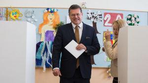 Den slovenska EU kommissionären och presidentkandidaten Maros Sefcovic.