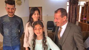 Loay Francis och hans familj i Tel Skef, norra Irak.