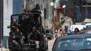 Armens specialenheter har satts in för att bekämpa brottsligheten i slumområden i storstäder som Belem , Rio de Janeiro och Sao Paulo