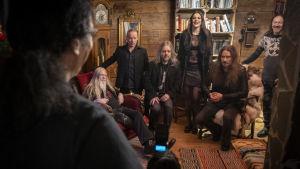 Nightwish kuvauksissa Levillä.