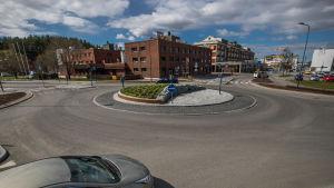 Trafikrondellen i S:t Karins centrum