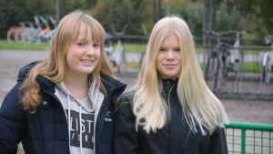 Vanja Snabb och Wilma Kraufvelin.