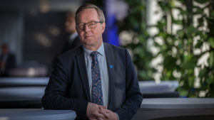 Keskustan poliitikko ja ministeri Mika Lintilä, Finlandia-talo, 23.10.2017.
