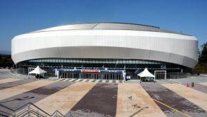 Den större av de två ishockeyarenorna i PyeongChang.