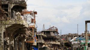 Centrum av Marawi den 25 oktober 2017.