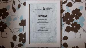 bild på ett diplom