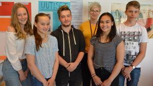 elever i Vasa övningsskola.