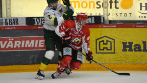 Erik Riska spelar ishockey i Vasa Sport.