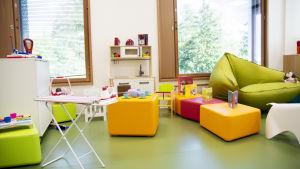 Ett av lekrummen på nya barnsjukhuset