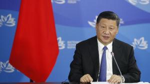 President Xi under EEF i Vladivostok i mitten av september 2018.
