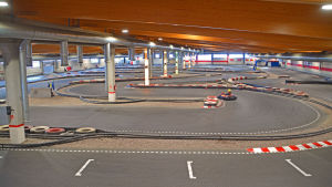 Kartingbanan i VM Karting Center i Vanda.