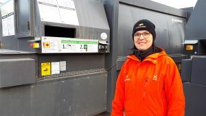 Kommunikationschef Nina Lindman från Stormossen.