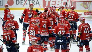 HIFK firar efter att ha besegrat HPK med 4-0-