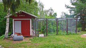 En hönsgård.