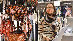 Barbara Boccadoro  står i sin klädaffär i Italien.