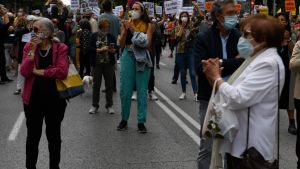 Demonstration i Madrid 20.9.2020