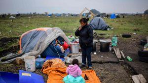 Hemlösa söder om Buenos Aires i Argentina