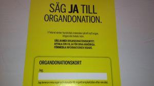 Organdonationskort