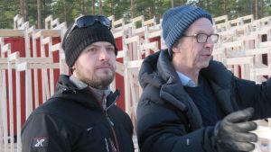 Sebastian Sjöblom och Erik Pöysti i Harparskog